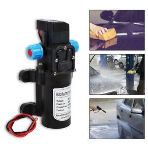 12V Water Pump High Pressure Diaphragm Self Priming 115PSI 5L/Min RV Caravan