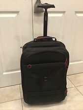 DESLEY MONTSOURIS BLACK CABIN WHEELED TROLLY CASE. WATER RESISTANT. NEW