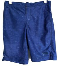 The North Face Boys Youth Teen Board Shorts Blue Swim Trunks large 14/16 Vguc