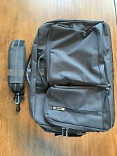 Solo Convertible Laptop Briefcase Backpack Bag Gray With Strap