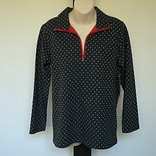 'BLACK PEPPER' BNWT SIZE '8' RED, GREY & WHITE SPOTTED LONG SLEEVE TOP