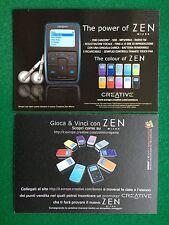 5147 Advertising Pubblicita' Cartolina Card 15x10 cm - CREATIVE ZEN MICRO