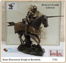Tournament Knight, Time Line Large Figurine,Cold Cast Bronze Finish # 7750 Boxed