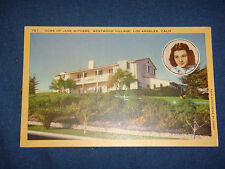 Vintage 1940s Linen PC Residents of Jane Withers, Westwood Village LA California