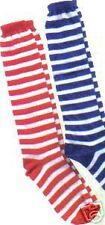 Paire de Chaussettes de Clown rayees BLEU ET BLANC TAILLE XL DEGUISEMENT WI3444