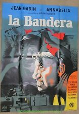 LA BANDERA MOVIE POSTER FRENCH 47x63 CLEMENT HUREL ARTWORK JEAN GABIN 1935 FILM