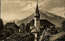 Sigriswil alte AK Schweiz Suisse ~1920/30 Blick auf Kirche mit Niesen ungelaufen