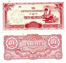 Japan JAPON Burma Billet 10 RUPEES INVASION 1942  QAUSI NEUF // aUNC