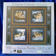 """Ridgetop Cameos by Rosemary Millette Wolves 550 Piece Jigsaw Puzzle 15.5"""" X 18"""""""