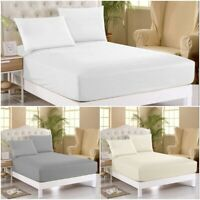 400 TC Thread Count Fitted Sheet 30cm Deep 100% Egyptian Cotton Double King Size