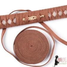 Genuine Leather Ito Coffee Cord For Japanese Samurai Sword Katana  Tsuka