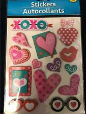 HEARTS/LOVE THEME POP-UP STICKER SHEET (14 STICKERS) GREAT FOR SCRAPBOOKING
