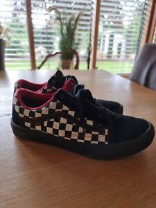 VANS Gr.42,5 (9,5) Kariert Schwarz Weiß Rot Herren Top Schuhe Sneaker