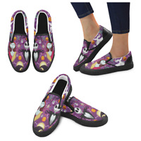 Nightmare Before Christmas Loafers Slip-on Flats Casual  Canvas Shoes for Women