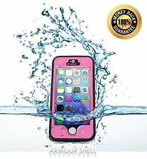 Armour Shell Waterproof Hard Case for iPhone 5s - Pink