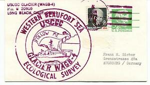 1972 USCGC Glacier WAGB-4 Beaufort Sea Long Beach Eco Survey Polar Arctic Cover