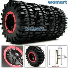 4pcs RC air pneumatic Tires & 2.2 Beadlock Wheels & Air Pump Fit RC 4WD Crawler