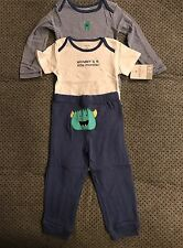 Carters Mommy's Little Monster 3 Piece Bodysuits Pants 24 Months NWT