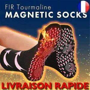 Chaussettes Magnétiques Tourmaline Auto Chauffantes Confortables Respirant Pieds