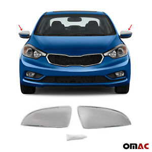 Fits Kia Forte 2014-2016 Stainless Steel Chrome Side Mirror Cover Cap 2 Pcs