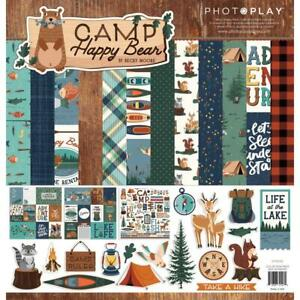 CAMP HAPPY BEAR Collection Pack 12X12 Scrapbooking Kit Photo Play CHB2018 New