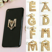 NEW 360° Rotate A-Z Letter Finger Ring Stand Metal Holder for Cell Phone Bracket