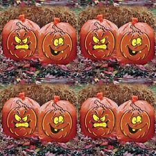 "Jack O Lantern Leaf Bags Pumpkin Halloween Decor 30"" x 24"" Orange Lot of 8 Bags"