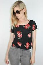 RETRO 90s FLORAL GRUNGE Bowtie Backless CROP TOP New S / 10