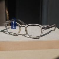 Retro vintage Depp eyeglasses high plastic mens crystal frame RX optical eyewear