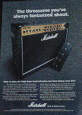 1998 Marshall JCM 2000 Triple Super Lead guitar amplifier photo print Ad