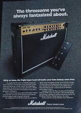 1998 Marshall JCM 2000 Triple Super Lead guitar amplifier photo print Ad