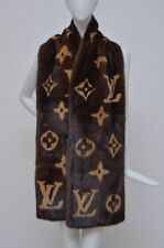 Amazing Rare LOUIS VUITTON Mink Monogram Large Scarf Stole Fur NWT