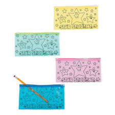 Star Student Pencil Cases - Stationery - 12 Pieces