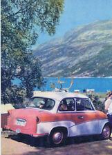 Cartolina Trabant Europa viaggio Svezia DDR 14,8x10,5 cm