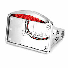 Chrome License Plate LED Tail Light For Honda Shadow Spirit Aero VT750 VT1100