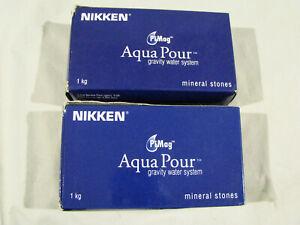2 Boxes NIKKEN PIMAG AQUAPOUR GRAVITY WATER SYSTEM MINERAL STONES  - #1386 - NIB