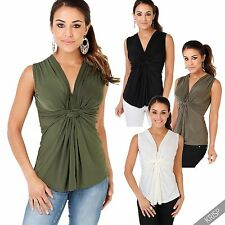 Polyester No Pattern V Neck Hip Length Women's Tops & Shirts