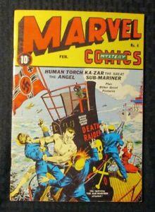 1970's FLASHBACK #26 FVF 7.0 Reprint Marvel Comics #4 Human Torch / Sub-Mariner