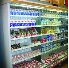 More details for dairy chiller cabinet pvc strip curtains 2.5m width 1.7m drop clear transparent