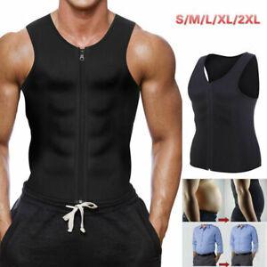 UK Sweat Body Shaper Men Slimming Vest Thermo Neoprene Tops Trainer Shapewear