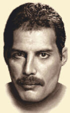 FREDDIE MERCURY - QUEEN - Full counted cross stitch kit