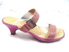 Donald J Pliner 8.5M Jacey Fuchsia Pink Oil Skin Gator Womens Ladies Sandals
