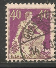 Switzerland #138a (A25) VF USED - 1933 40c Helvetia