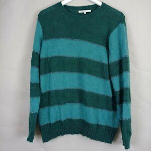 Gerard Darel Ladies Green Metallic Stripes Jumper Size 4  UK 16 Mohair Blend