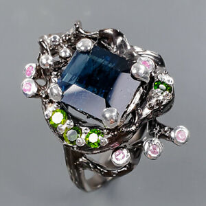 Jewelry Unqiue Tourmaline Ring Silver 925 Sterling  Size 9 /R178164