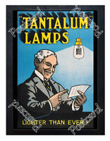 Historic Tantalum Lamps or lightbulbs Advertising Postcard