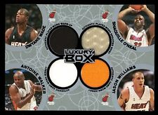 2005-06 Topps Luxury Box QUAD JERSEY BLACK 11/25 ~ Dwyane Wade Shaquille Oneal