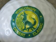 (1) University Of Wisconsin Badgers Logo Golf Ball Desert Classic