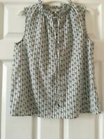 BNWT Next Blue Cream print sleeveless top Size  6