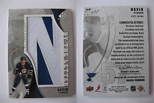 """2010-11 SPGU SP Game Used David Perron 6/6 """"N"""" by the letter 1/1 nameplate"""